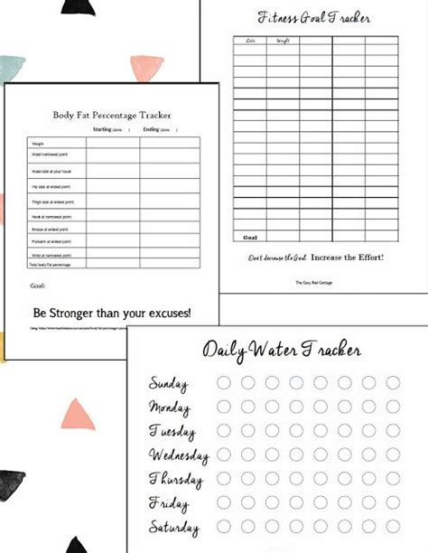 worksheets    track   fitness wight