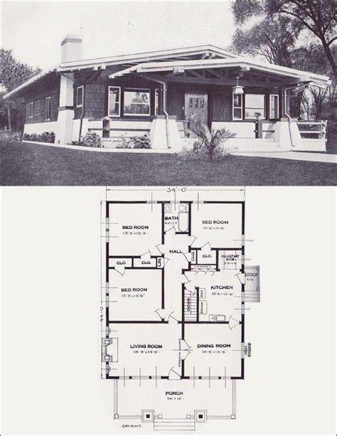asian influence bungalow  orient  standard homes company home plans