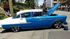 1955 Chevrolet Bel Air 4 Door Sedan Blue   White Gr8 55