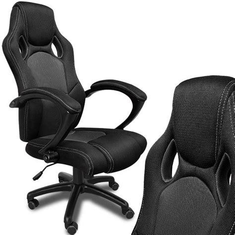 fauteuil baquet bureau fauteuil de bureau noir en type racing achat