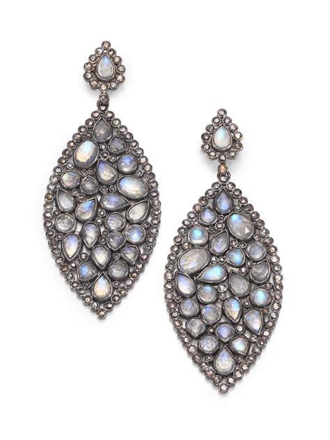 bavna champagne diamond rainbow moonstone sterling silver