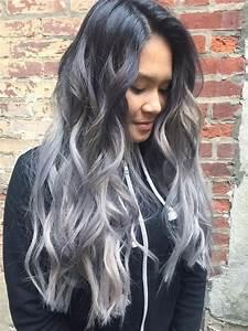 Haarfarbe Schwarz Grau : metallic haarfarben ~ Frokenaadalensverden.com Haus und Dekorationen