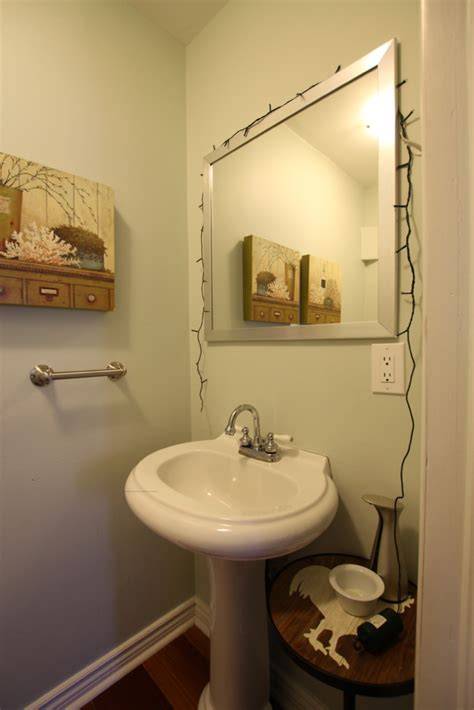 compact nautical powder room  mudroom makeover house