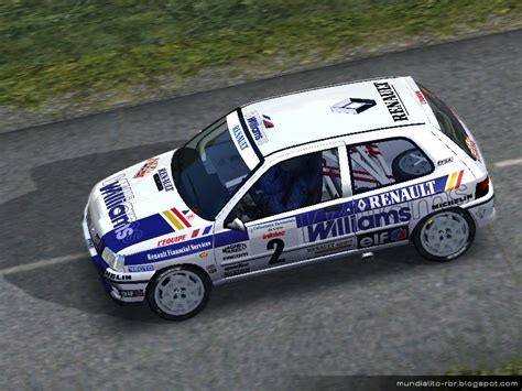 rbr clio williams template chr productions renault clio williams williams f1 edition