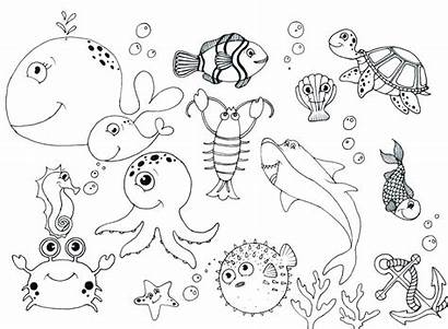 Coloring Sea Pages Ocean Scene Printable Colouring