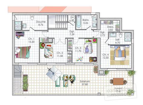 plans maisons plain pied 3 chambres une maison contemporaine à la mer dé du plan de