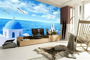 wandgestaltung im wohnzimmer unterwasserwelt wandgestaltung im wohnzimmer
