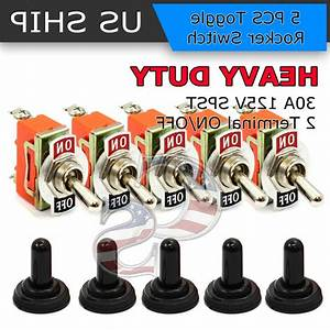 5x Toggle Switch On  Off Heavy Duty 30a 125v