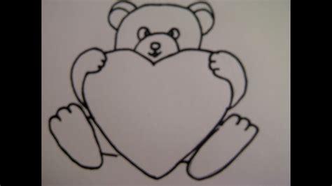 teddybaer mit herz zeichnen zeichnen basteln zum