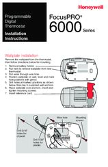 Honeywell 6000 Thermostat Wiring Diagram by Honeywell Focuspro 6000 Series Manuals