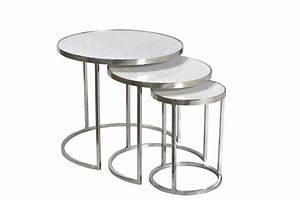 Table Gigogne Marbre : emoh mobilier industriel set de 3 tables gigogne marbre et metal ~ Teatrodelosmanantiales.com Idées de Décoration