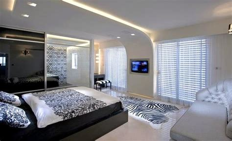 modern bedroom designs  black  white color palette