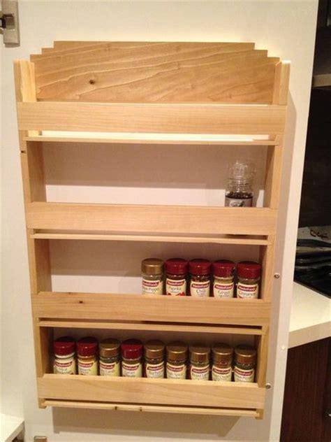 Spice Rack To Hang On Pantry Door by Poplar Spice Rack Designed To Hang On The Inside On The