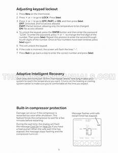 Honeywell T6 Pro Thermostat User Guide