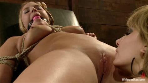 Voluptuous Slut Gets Rope Tied In Bondage Gagged And