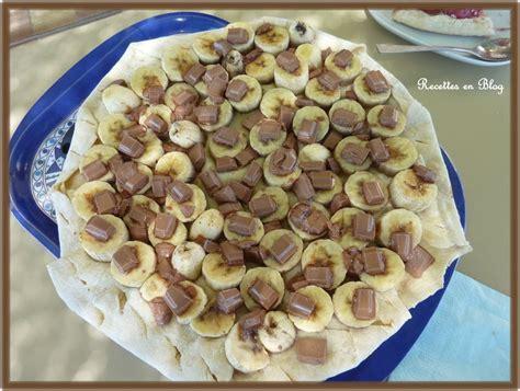 pizza bananes chocolat au lait au barbecue recettes en
