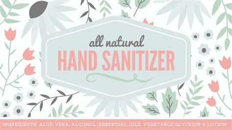 mix natural hand sanitizer label  printable