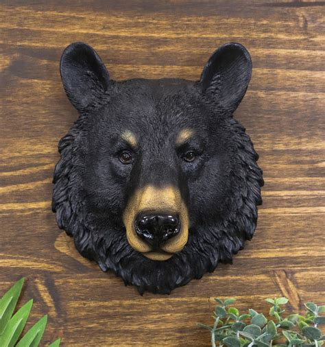 Ebros Gift The Brave Black Bear Head Wall Decor Plaque 8