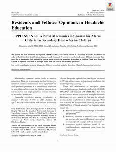 Headache Mnemonic Cs