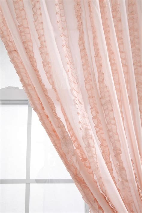 tuxedo ruffle curtain blush nurseries and curtains for nursery