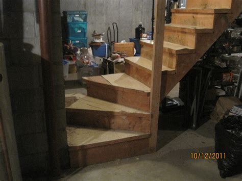 home improvement project  basement stairs  floors