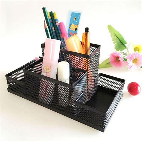 desk pencil organizer metal mesh home office pen pencil holder desk stationery