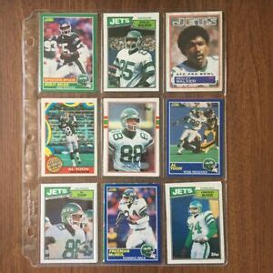 Lot of 18 New York Jets Football Cards (EXCELLENT to MINT ...