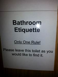 toilet etiquette signs pictures to pin on pinterest With bathroom edicate
