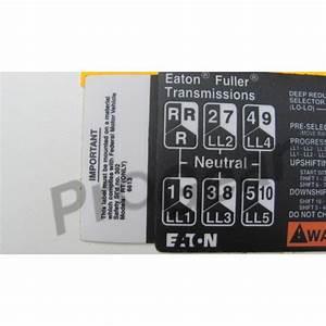 29 Eaton Fuller 13 Speed Shift Knob Diagram
