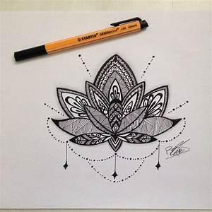 Fleur Lotus Tatouage : dessin mandala fleur de lotus dessins pinterest ~ Mglfilm.com Idées de Décoration