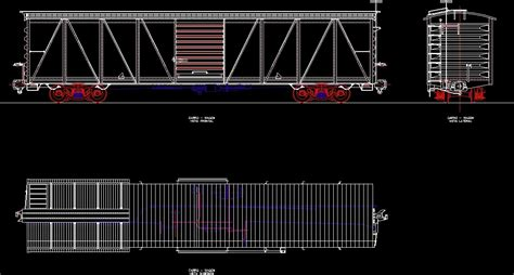 box auto dwg rail box car of loads dwg plan for autocad designs cad