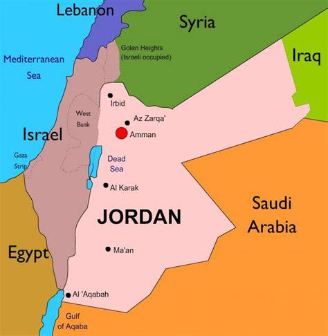 capital  jordan map map  capital  jordan jordan