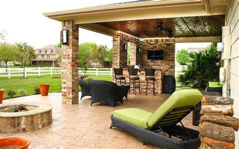 patio cover outdoor kitchen  pearland estates texas custom patios