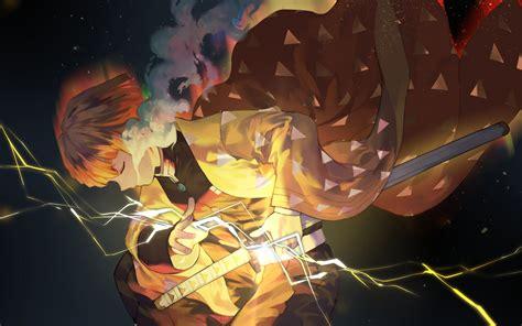 anime wallpaper demon slayer zenitsu