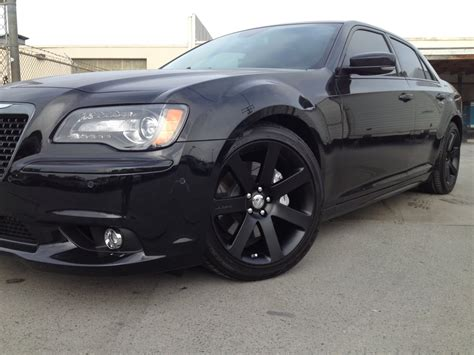 Chrysler 300 Murdered Out by Chrysler 300 Srt8 Looking With The Wheels Blacked Out