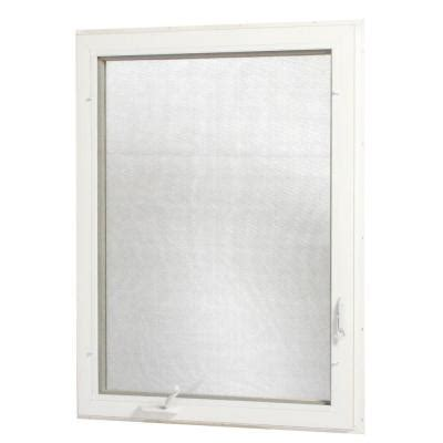 tafco windows      left hand vinyl casement window  screen white vc