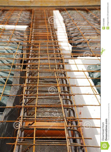 foundation works showing radon ventilation pipes royalty