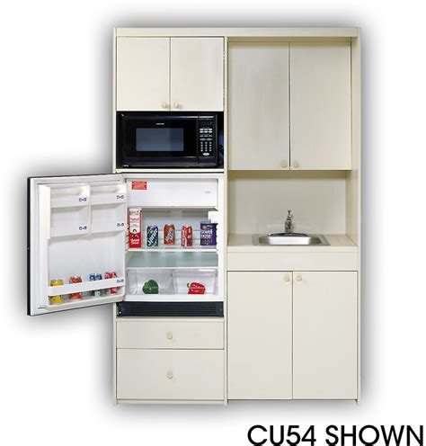 Acme Cu5 Compact Kitchen With Stainless Steel Sink, 1 Cu