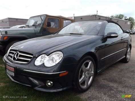 convertible mercedes black 2007 black opal metallic mercedes benz clk 550 cabriolet