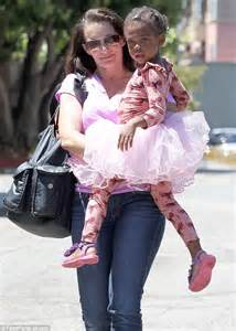 bows for babies kristin davis dotes gemma as she carries