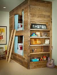 kid bunk beds Rustic Kids' Bedrooms: 20 Creative & Cozy Design Ideas