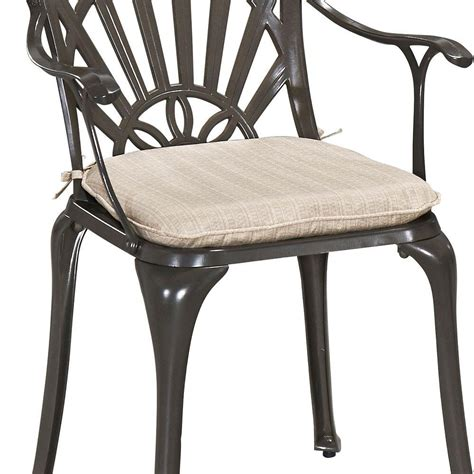 home styles gray outdoor dining chair cushion  cus