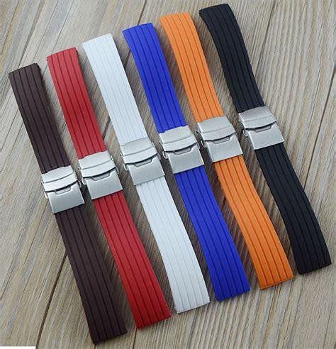 jual tali jam tangan karet rubber dengan buckle