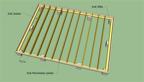 12x16 free standing deck plans diy build shed marskal