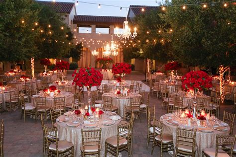 Red Rose Filled Valentine's Day Wedding Featured on