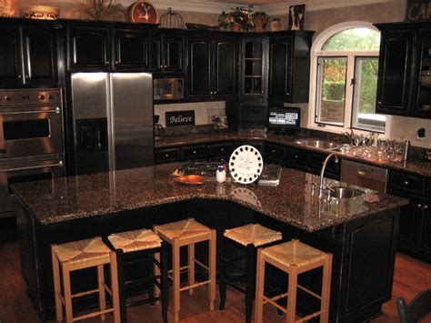 black painted kitchen cabinet ideas handpained and distressed black kitchen cabinetry