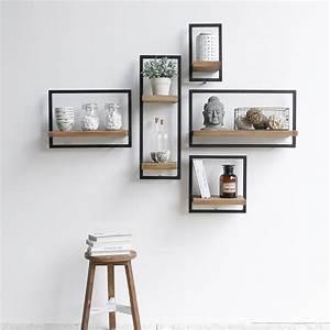 étagères Murales Design : conseil comment disposer des tag res murales ~ Teatrodelosmanantiales.com Idées de Décoration