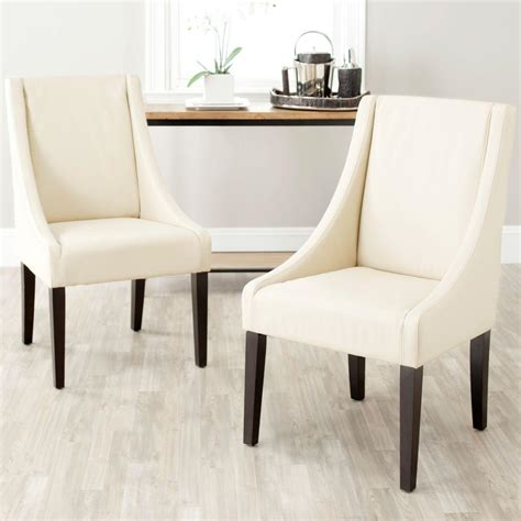 safavieh leather dining chairs safavieh britannia bicast leather side chair set of