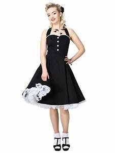 robe pin up retro 5039s rockabilly gretel noir robe With vêtements rockabilly femme
