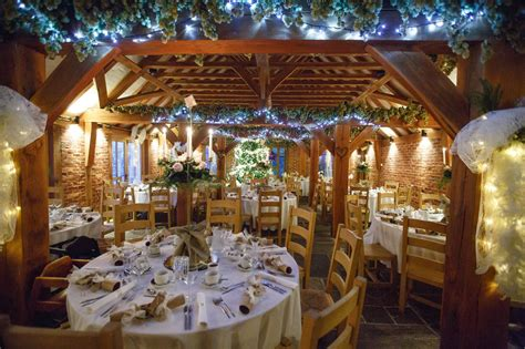 rustic christmas wedding reception   barn copyright